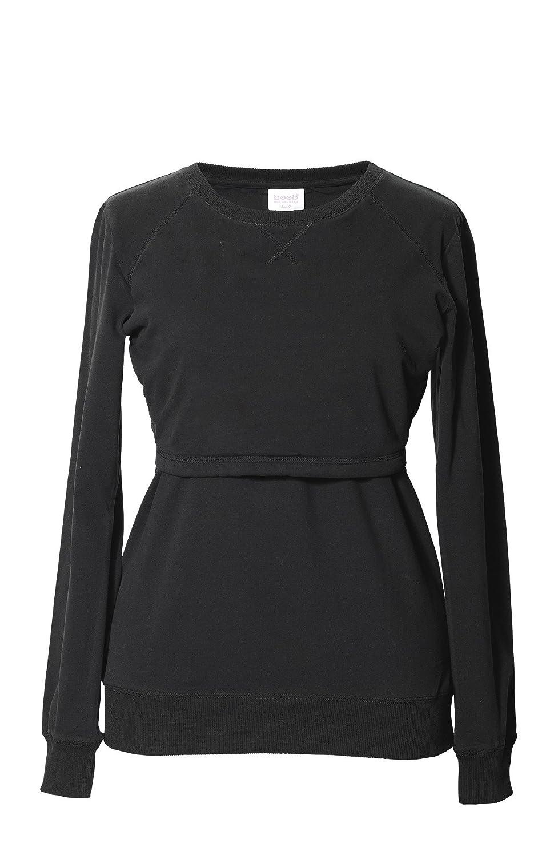 Black Boob BWarmer Organic Cotton Maternity Nursing Sweatshirt