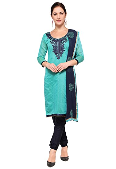 689970f021 Ishin Chanderi Art Silk Blue Party Wear Wedding Wear Bollywood New  Collection Latest Design Embroidered Unstitched