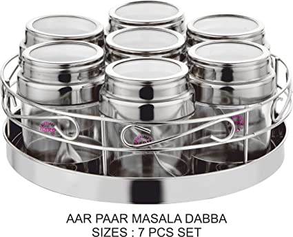 MARU Stainless steel Kitchen Storage Container with steel tray