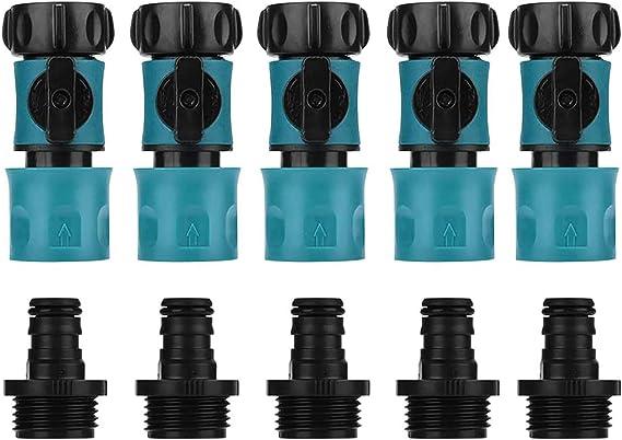 5Pcs Garden Hose Quick Connect Plastic Hose Tap Adapter Set Connector