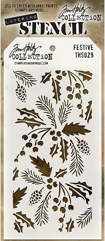 4.125 x 8.5 Stampers Anonymous THS-032 Tim Holtz Layered Flourish Stencil