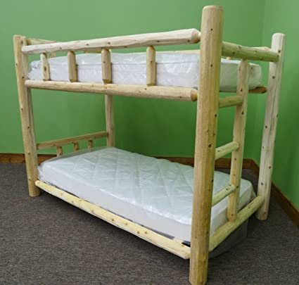 Amazon Com Midwest Log Furniture Premium Log Bunk Bed Twin