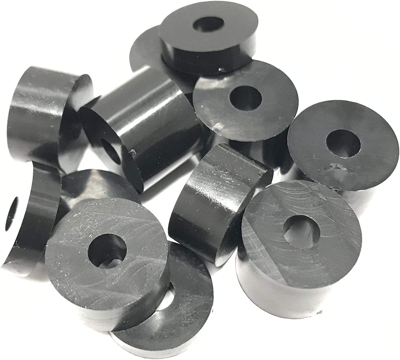 5 x 20 mm 4 x 4 x paquete de 12 4 x 10 x 20 mm 15 mm x 20 mm Arandelas separadoras de nailon s/ólido M6 de 6 mm