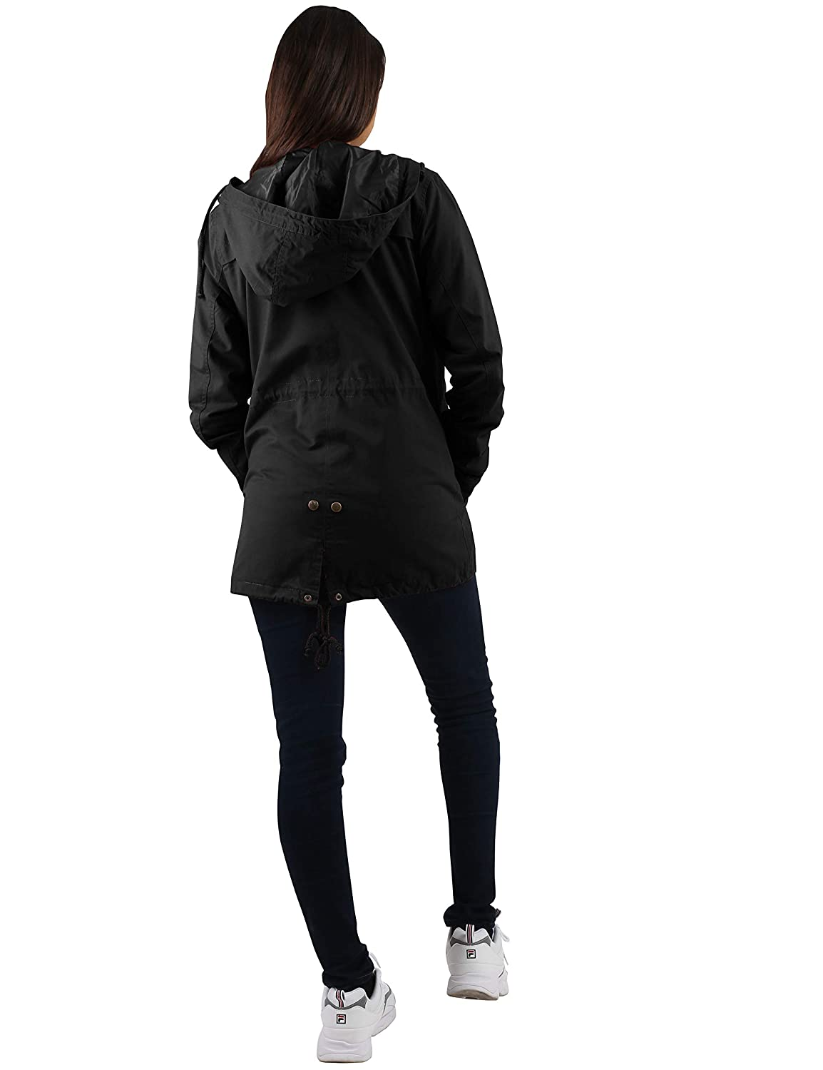 ceaeea6f703 Hat and Beyond Womens Hooded Anorak Jacket Satin Lined Plus Size ...
