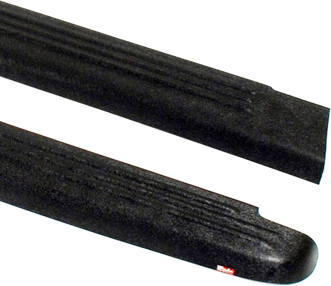 Set of 2 Wade 72-00801 Truck Bed Rail Caps Black Ribbed Finish without Stake Holes for 1998-2004 Nissan Frontier King Cab