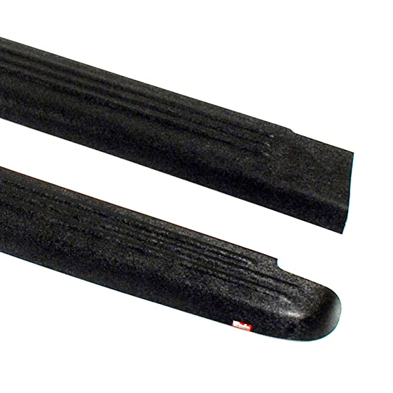 Wade 72-41111 Truck Bed Rail Caps Black Smooth Finish with Stake Holes for 1988-1998 Chevrolet GMC 1500 2500 3500 with 6.5ft bed Set of 2