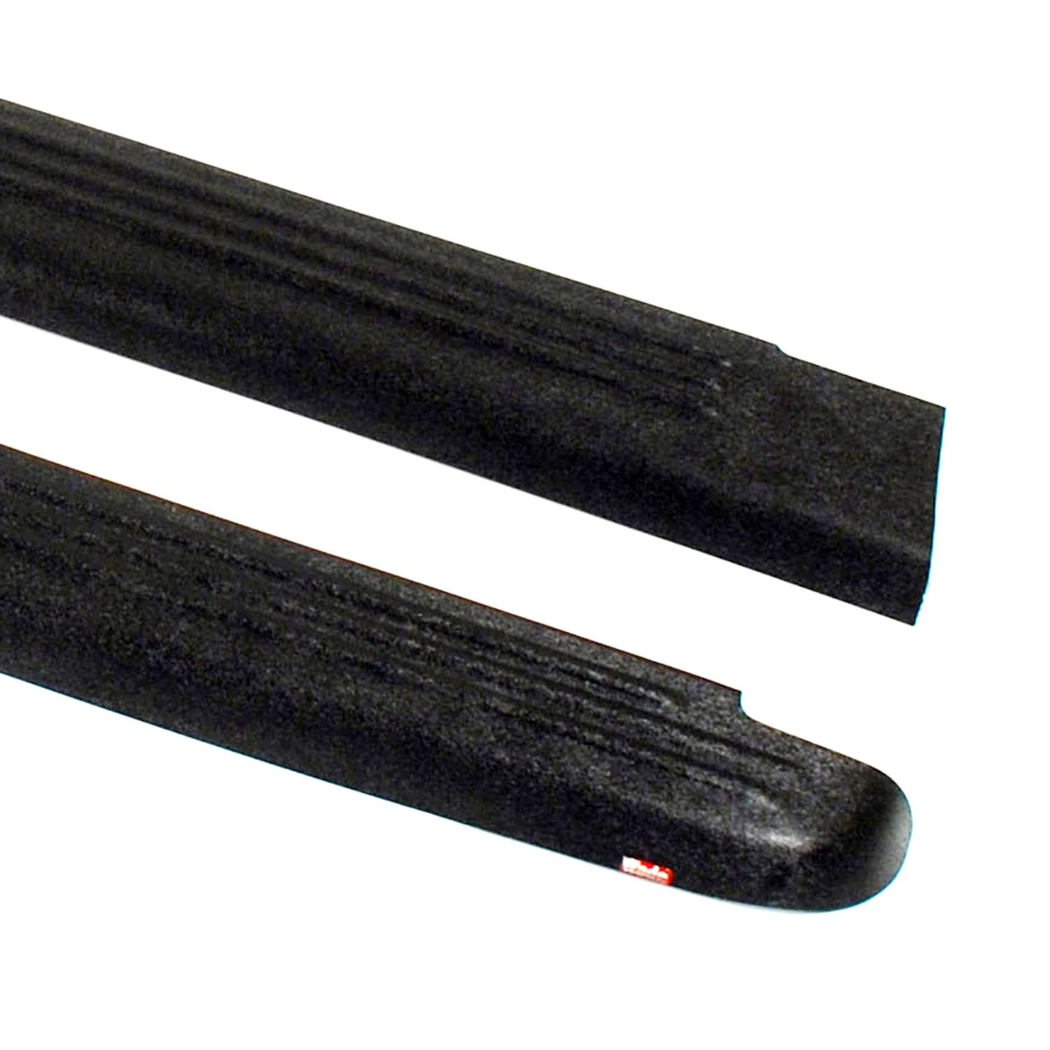 Wade 72-00151 Truck Bed Rail Caps Black Ribbed Finish without Stake Holes for 1999-2007 Silverado & Sierra 1500 2500 (Classic only) with 6.5ft bed (Set of 2)