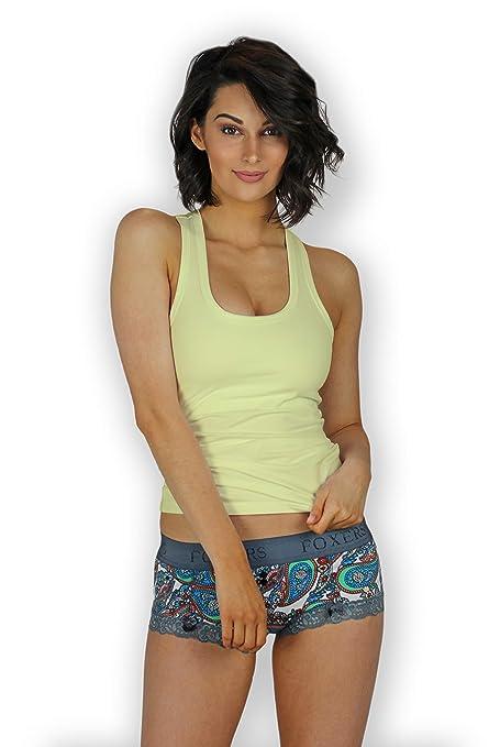 b1e66487c Foxers Women s Shelf Bra Tank Top XS-XXL at Amazon Women s Clothing store