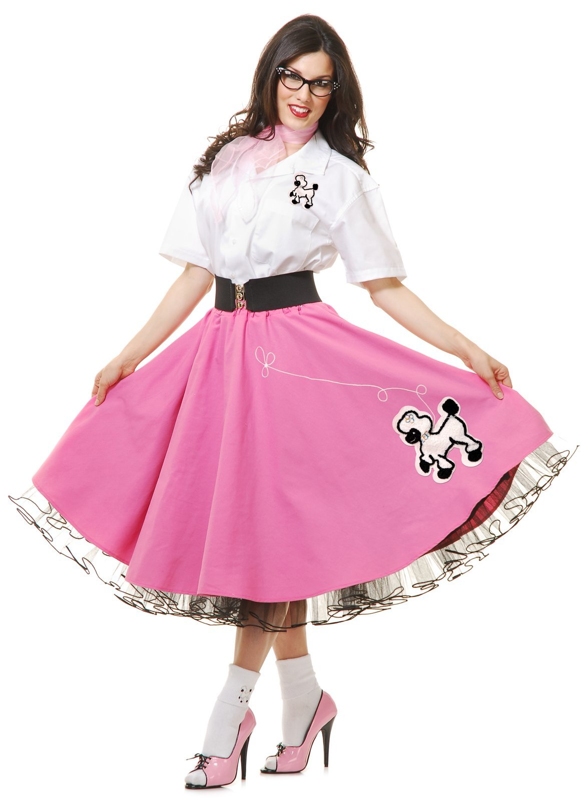 Complete 50's Poodle Outfit Adult Costume Pink - Small by Charades