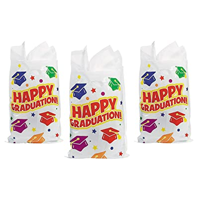 Fun Express - Elementary Graduation Treat Bags (50pc) for Graduation - Party Supplies - Bags - Plastic Bags - Graduation - 50 Pieces: Toys & Games [5Bkhe0306016]
