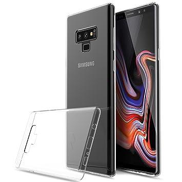 225db30f7ff Kugi Funda Samsung Galaxy Note 9,Samsung Galaxy Note 9 TPU Transparente  Slim Silicona Case Cover [Anti-arañazos] para Samsung Galaxy Note  9(Transparente): ...