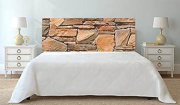 Amazon.de: Bett Kopfteil PVC Digitaldruck Steinmauer Textur ...