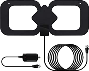 Indoor TV Antennan- Amplified HD Digital HDTV Antenna 200 Miles Range with 13.2ft Coax Cable - Support 4K HD Local Channels and All TVs