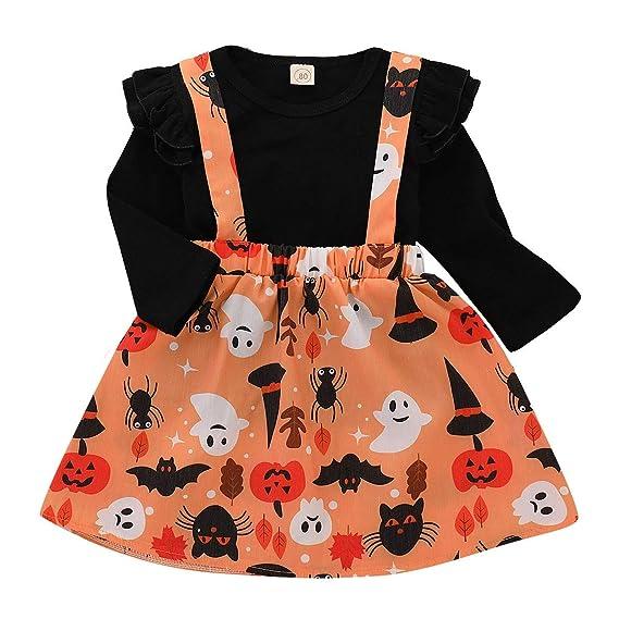 Conjuntos para Bebés Niñas Otoño Invierno 2018 Moda PAOLIAN Camisetas Manga Largas + Falda de Tirantes