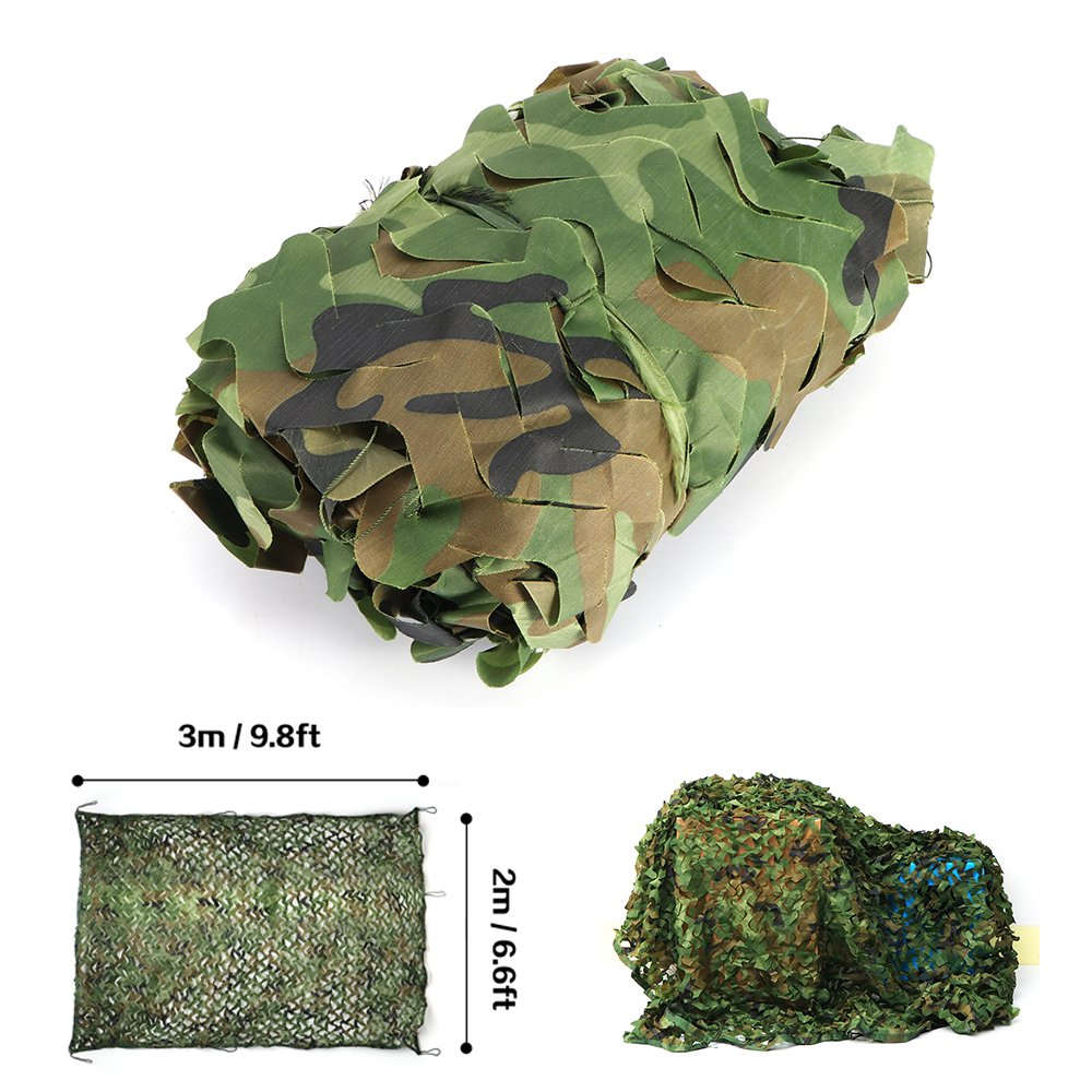 ONEVER 2*3m/2x 3m camouflage net Woodland camo net camouflage rete per addestramento militare mimetico militare camouflage/War Game/CS/ripresa/parasole/Awnings/pergola