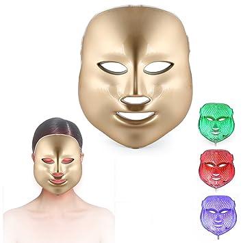 ZRYstore 3 color llevó máscara de oro terapia de luz LED tratamiento facial belleza piel cuidado