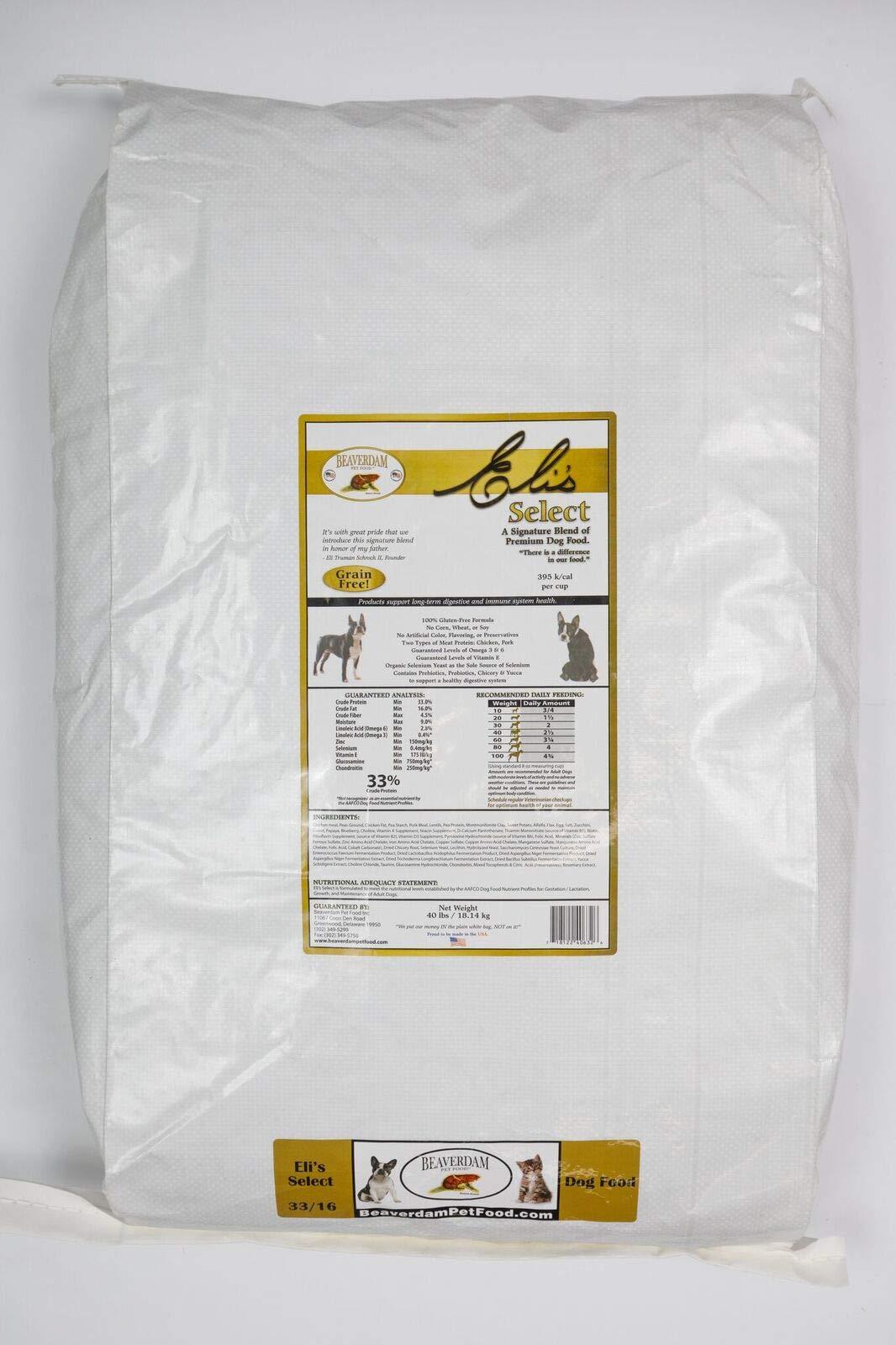 Beaverdam Pet Food, Inc. Eli's Select Grain Free 40 lb by Beaverdam Pet Food, Inc.