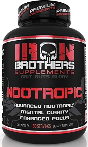 Nootropics Brain Booster – Focus Supplement Pills, Helps Relief Neuro Stress – Improve Memory – Boost Focus and Restore Energy, L-Theanine and Caffeine with Lion s Mane CDP – Choline – 120 Capsules