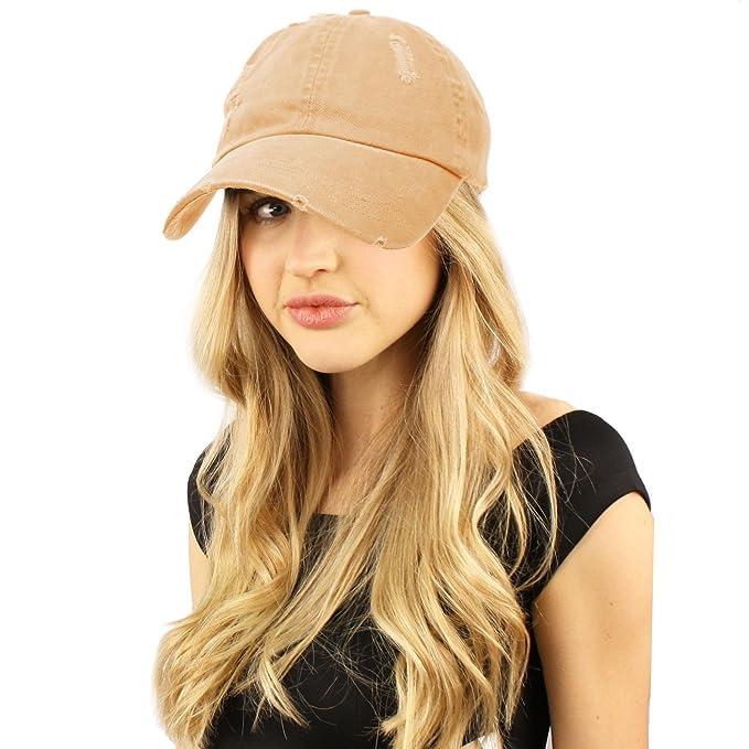 sk-hat-shop-distressed-stone-wash-denim-summer-cotton-baseball-cap-hat-adjustable by sk-hat-shop