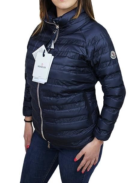 brand new cfabd fe3fd Piumino donna Moncler blu Tacaud giubbotto giacca piuma d ...