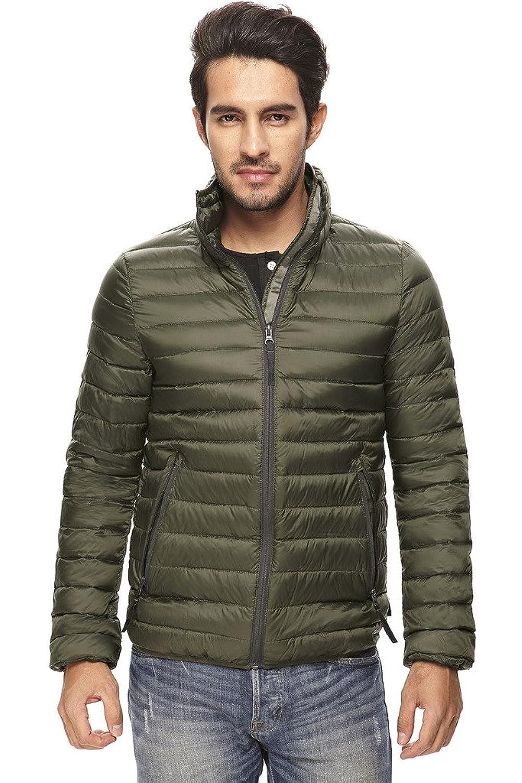 HuiSiFang® Herrn Mode Daunenjacke Leichte Füllung 90% Daunen Warme Winter