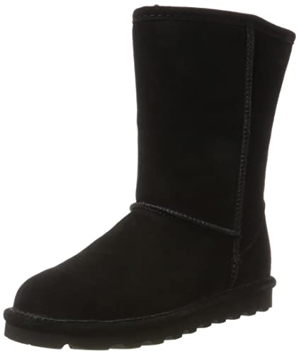 BEARPAW Emma Youth Chocolate II Suede Fur Lined Short Winter Mid Calf Boot