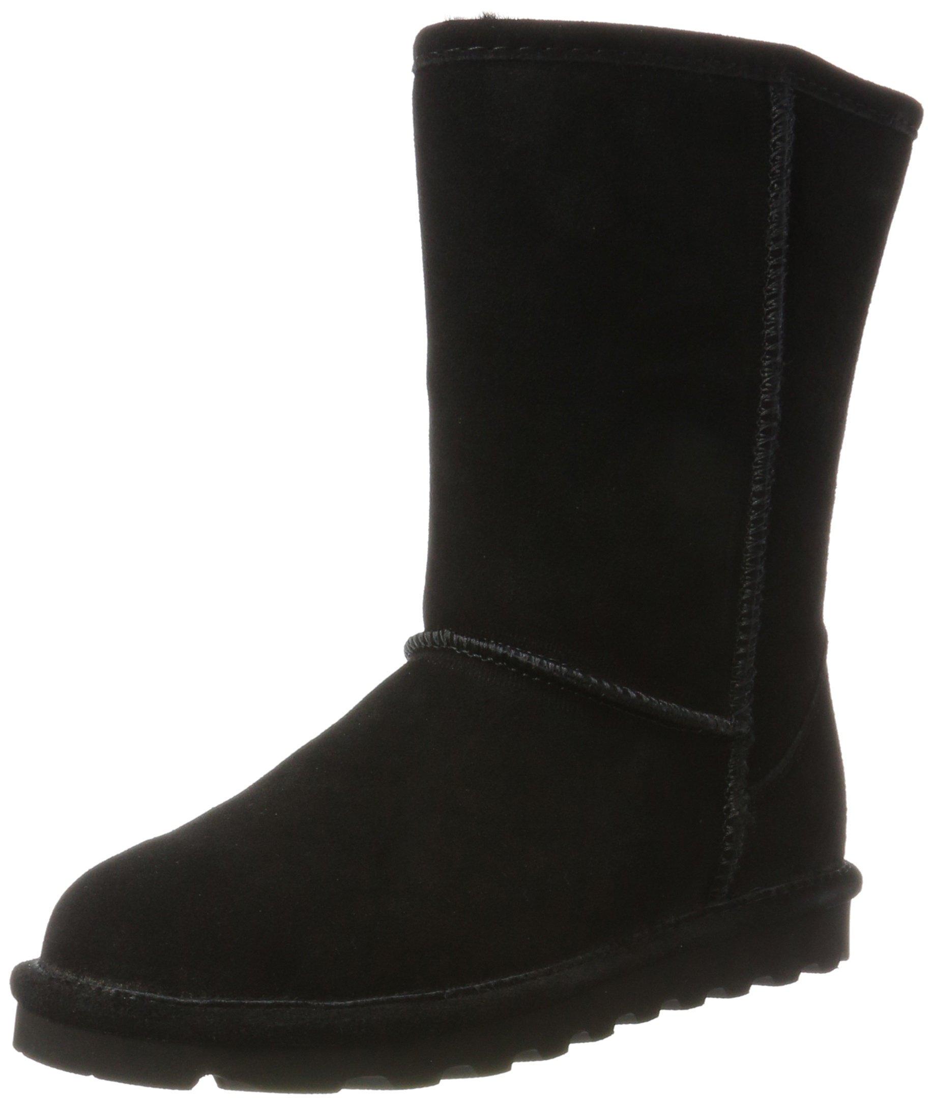 BEARPAW Women's ELLE Short Fashion Boot, Black ii, 7 M US