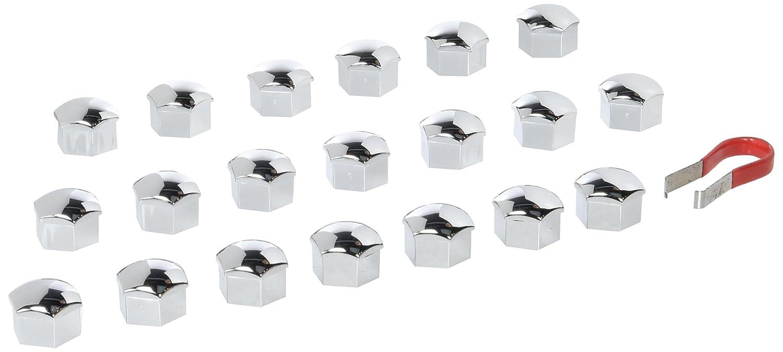 2241-20 Piece - Ø 17 mm Chrome capuchons des écrous, Cache-vis de roue bouchon de boulon protecteurs akhan-tuning