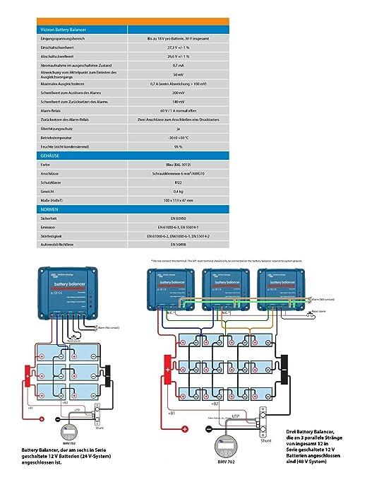 Victron Energy bba000100100 Balancer Battery: Amazon.co.uk: Car ...