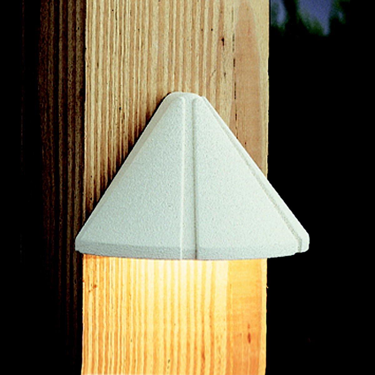 Kichler 15065WHT Six Groove Deck 1-Light 12V, Textured White