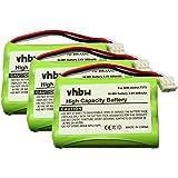 3 x vhbw Battery Set 700mAh for Cordless Landline Phone Bang & Olufsen BeoCom 6000 replaces 3HR-AAAU, T373