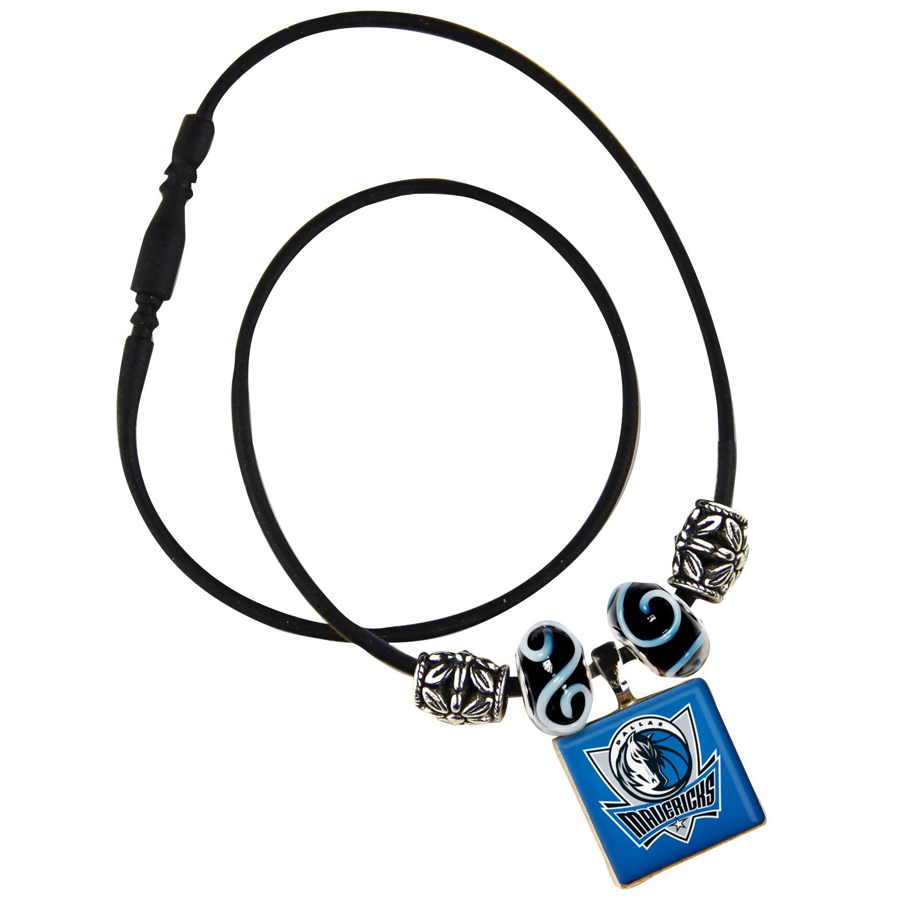 WinCraft NBA Dallas Mavericks Life Tiles Necklace with Beads