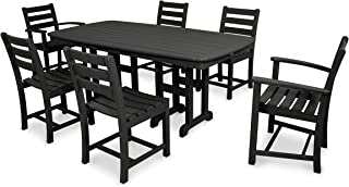 product image for Trex Outdoor Furniture TXS118-1-CB Monterey Bay 7-Piece Dining Set, Charcoal Black