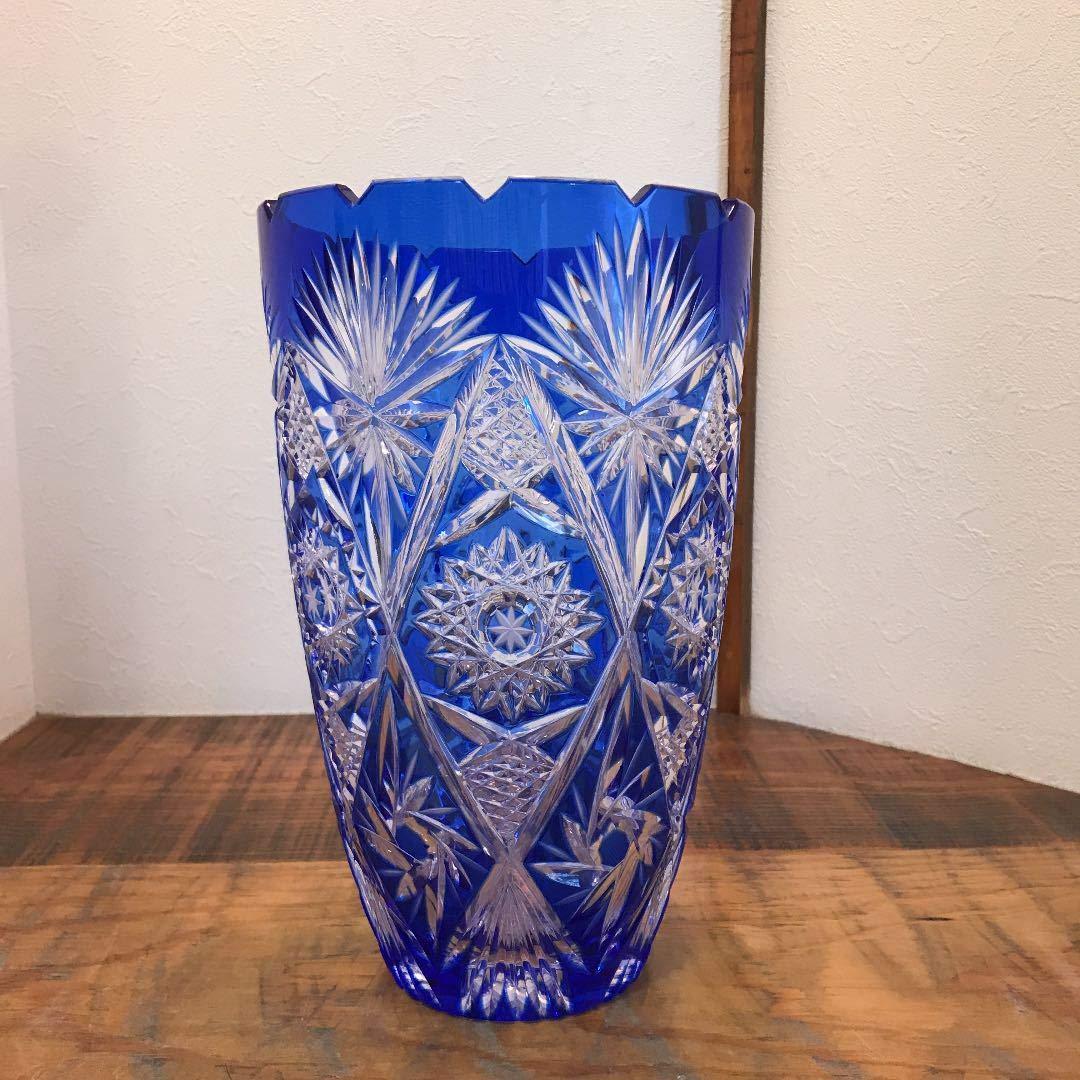 キリコ 江戸切子 花瓶 B07SQHMD54
