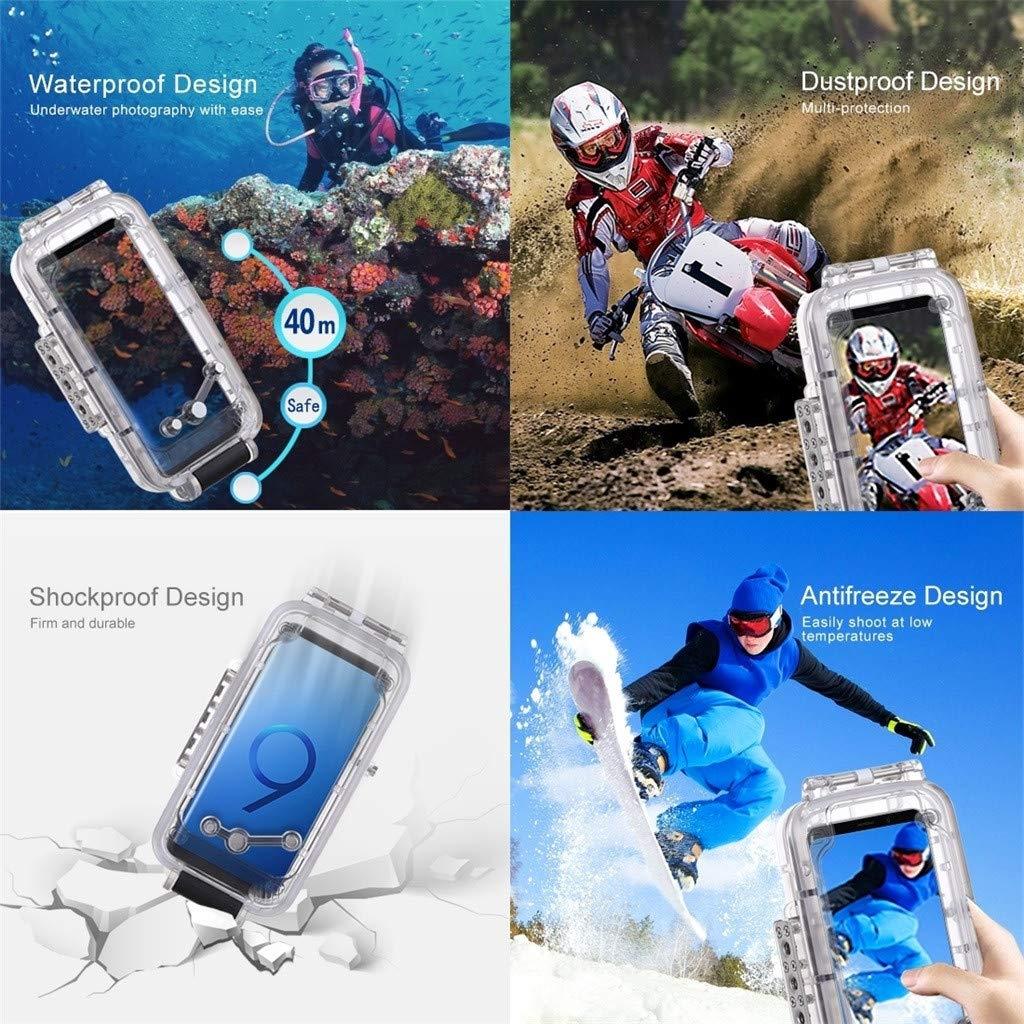 Skifahren Colorful 40m//130ft Wasserdichte Schutz Geh/äuse f/ür Samsung Galaxy S9 Segeln oder Anderen Aktivit/äten Surfen Unterwasser Schutzh/ülle Geeignet zum Tauchen Schnorcheln