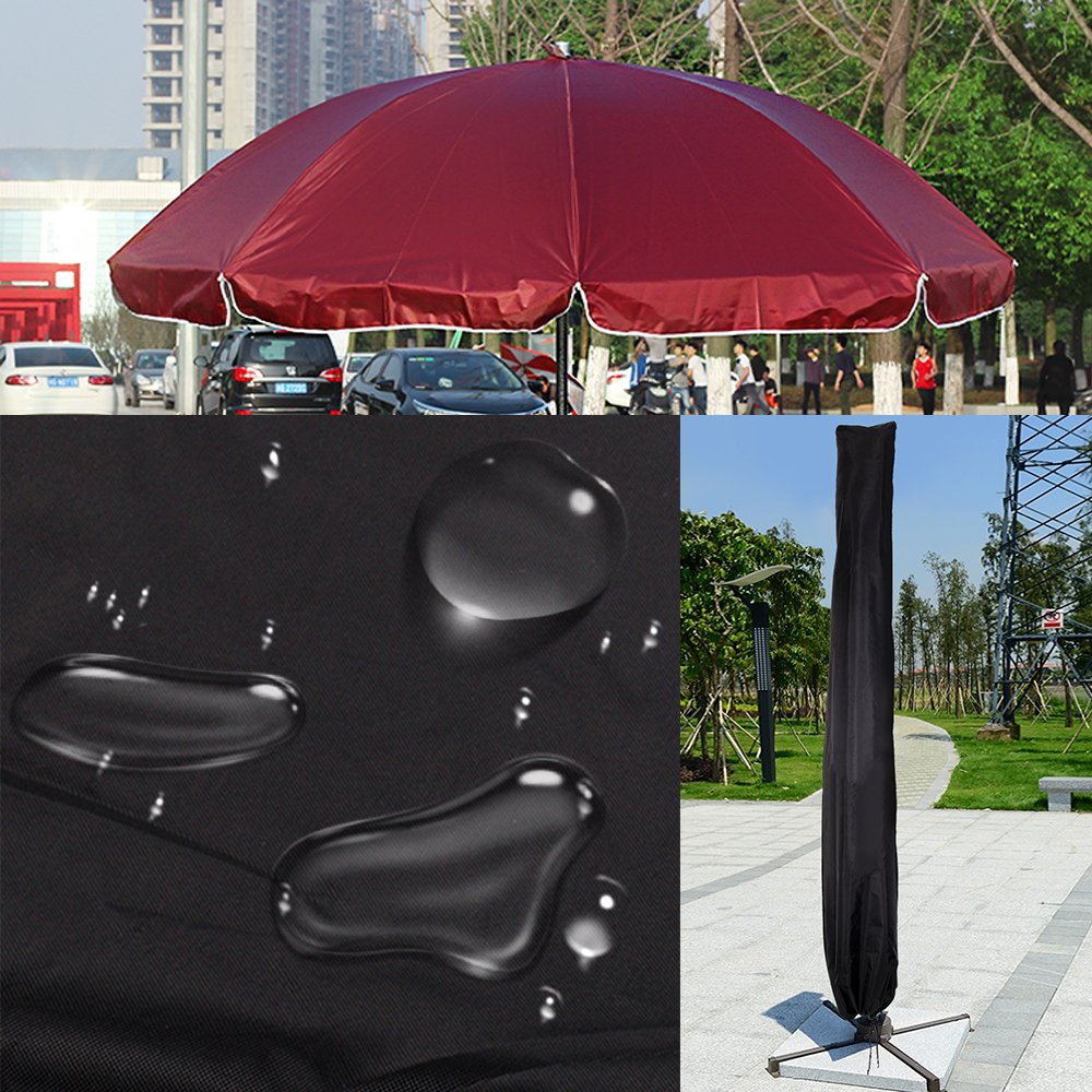 MultiWare Parasol Umbrella Cover Weatherproof Banana Outdoor Garden Protective Cover Black oem