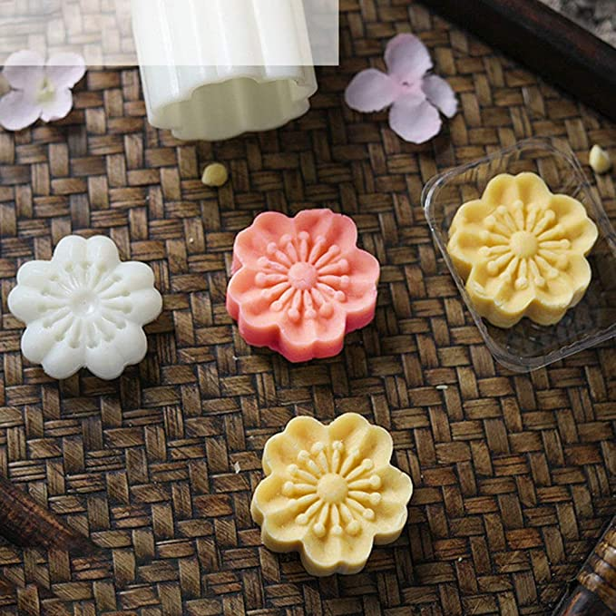 50g Moon Cake Mold 2 Lucky Bag Stamps Barrel Mooncake Hand Pressure Pastry Mould