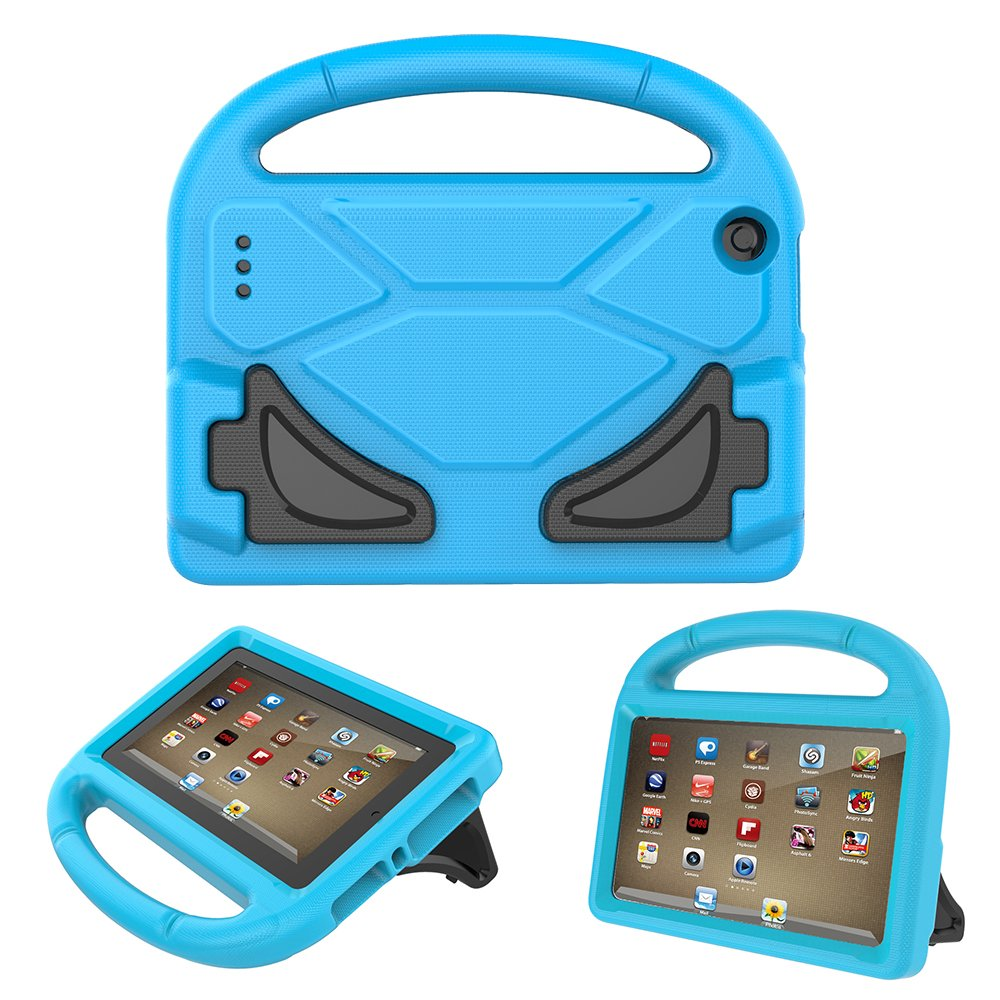 All-New Fire 7 Tablet Case 2017, KROMI Kidproof Shockproof Protective Handle Stand Case for Fire 7 with Alexa (7th Generation, 2017 Release) & (5th Gen, 2015 Release)(Blue)
