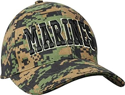 f13e44c42f4 Amazon.com  Digital Woodland Camouflage MARINES Military Low Profile  Adjustable Baseball Cap  Everything Else
