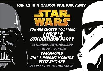 Star Wars Party Invitations Envelopes Invites