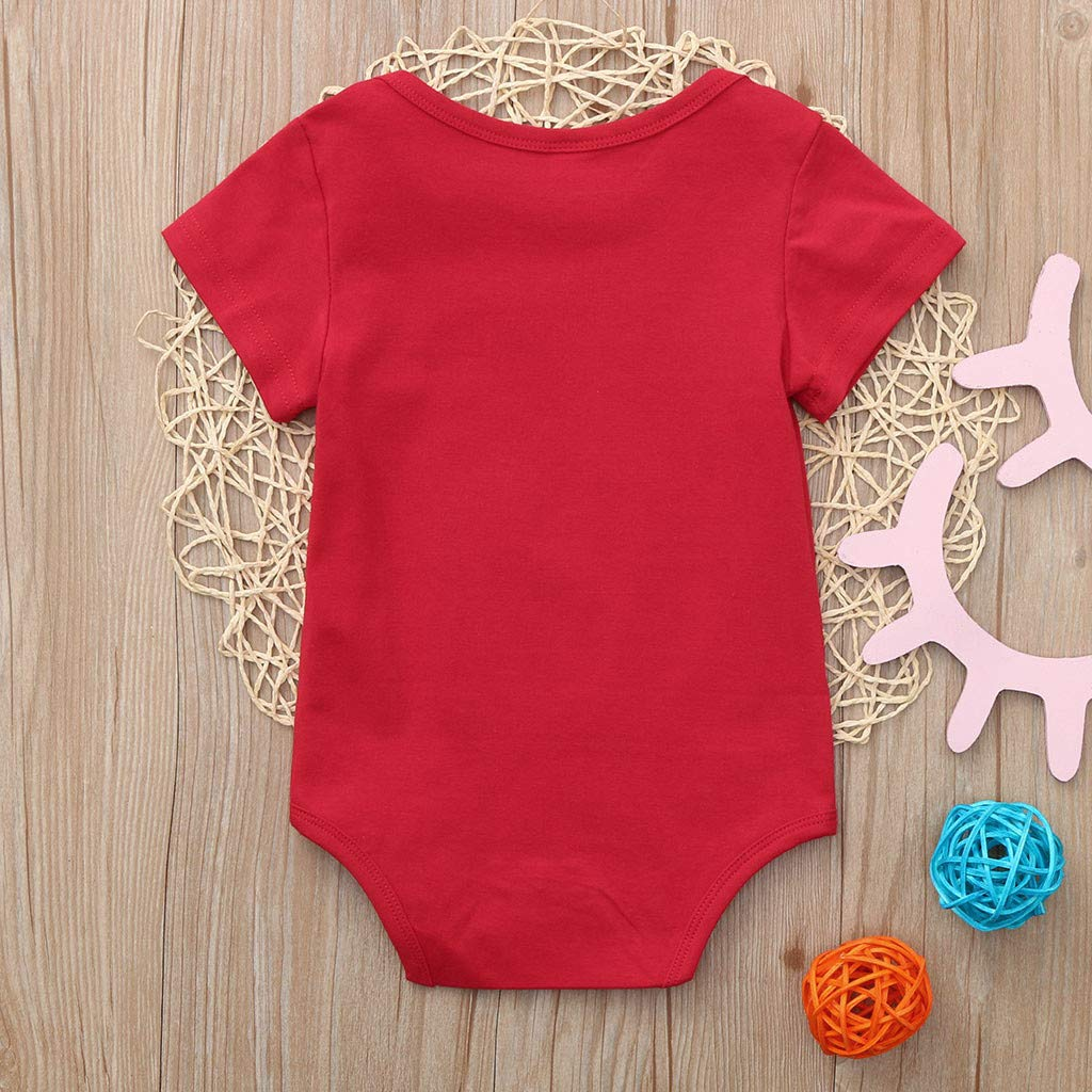 Lavany Baby Clothes Valentines Letter Print Romper Bodysuit for Toddler Boys Girls