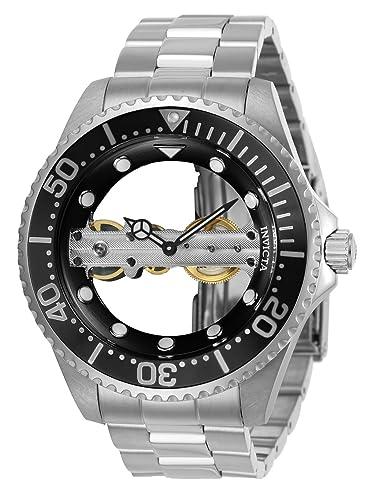 Invicta 24692 Pro Diver Reloj para Hombre acero inoxidable Manual Esfera negro: Amazon.es: Relojes