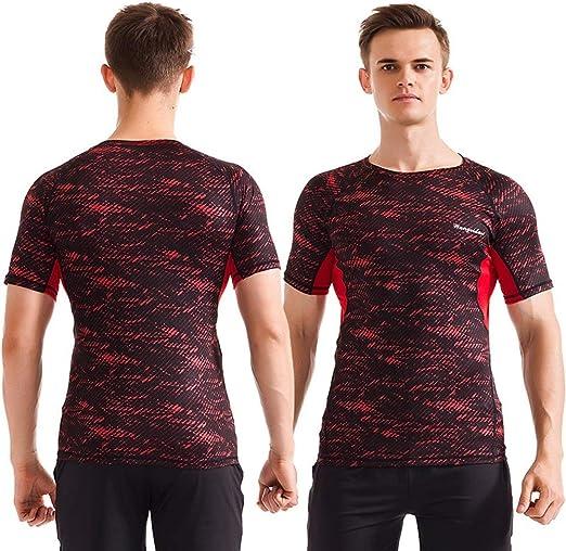 Tops de compresión para hombre Camisa de compresión fresca para hombre Camisa deportiva para ciclismo, entrenamiento, entrenamiento, ejercicio 4 colores camisa de manga larga para hombre, camiseta de: Amazon.es: Hogar