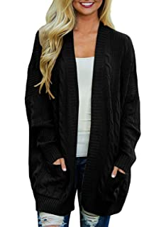 HARRYSTORE Lightweight Cardigans for Women Open Front Long Sleeve Waterfall Outwear Coat Midi Plain Color Long Cardigan with Button