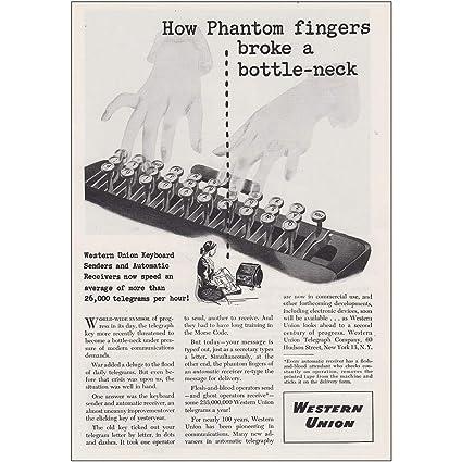 Amazon com: RelicPaper 1946 Western Union: Phantom Fingers