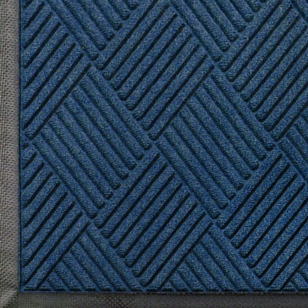 Medium Grey 3//8-Inch Thick 8.4-Feet Length X 3-Feet Width Andersen 208 Waterhog Classic Diamond Polypropylene Fiber Entrance Indoor//Outdoor Floor Mat SBR Rubber Backing