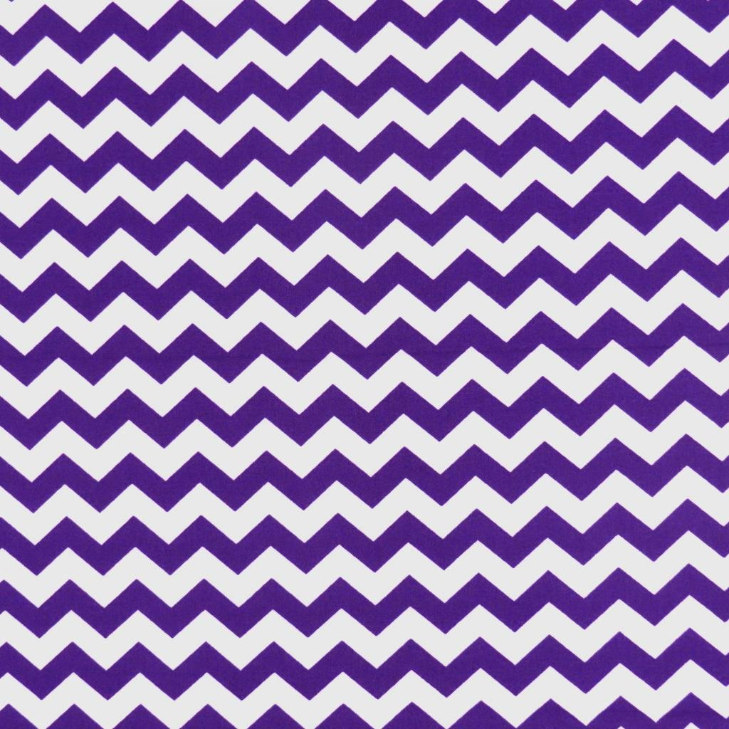 SheetWorld Fitted Portable/Mini Crib Sheet - Purple Chevron Zigzag - Made In USA