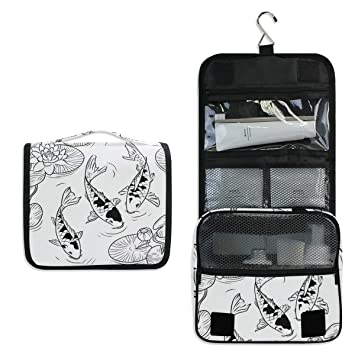 a0f08574f934 Amazon.com : SLHFPX Black And White Koi Fish Lotus Leaves Japan ...
