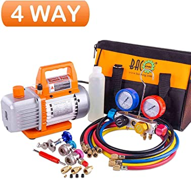5 lb Instructions R410a Color Coded Gauge Refrigerant Recharge Top-Off Kit