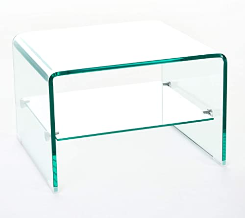 Christopher Knight Home Sergey 12mm Tempered Glass End Table
